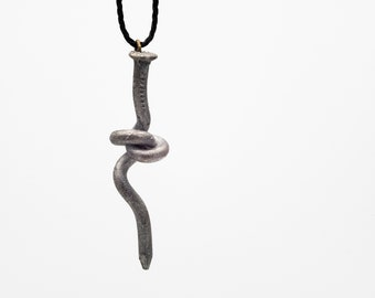 Knotted nail pendant