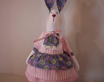 Pink bunny toy, Handmade Toy, Rabbit Toy, Interior toy