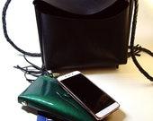 Handmade genuine leather handbag, handbag with original handles, bag for every day