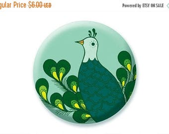 ON SALE PEACOCK Mirror, teen girl gift ideas, sweet 16 party favors, pocket mirror, purse mirror, lipstick mirror, makeup lover gift, peacoc