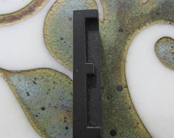 Letter E Antique Letterpress Wood Type Printing Block