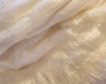 CRAZY Mulberry 100% Silk Laps sheets batts 5 ft x 10-11  ft of silk 39 oz for nuno felting spinning blending or knitting