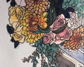 Original watercolor painting 12/100