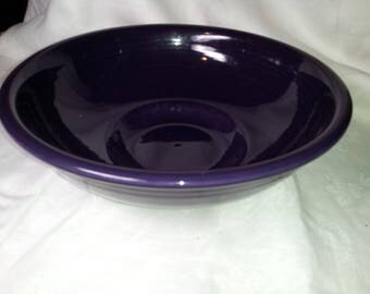 Fiestaware purple pedestal bowl