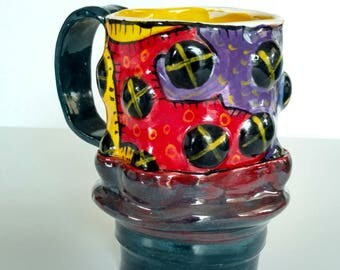 X marks the spot mug