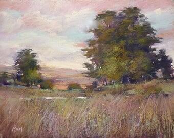 Romantic Landscape California Art Original Pastel Painting 11x14