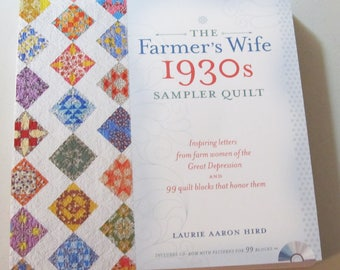 THE FARMER'S WIFE - 1930s Sampler Quilt Book - 99 Quilt Block Patterns - Includes Cd-Rom - 2015