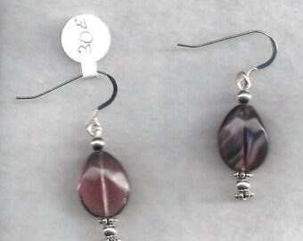 ON SALE Glass dangle Earrings