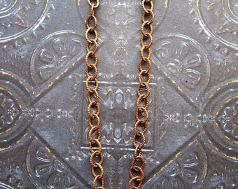 Antiqued Brass Twist Chain Bracelet - 7.75 inches in length