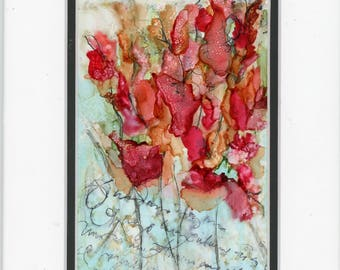Alcohol Ink Art, Ink Painting, Abstract Floral, Floral Painting, Floral Bouquet