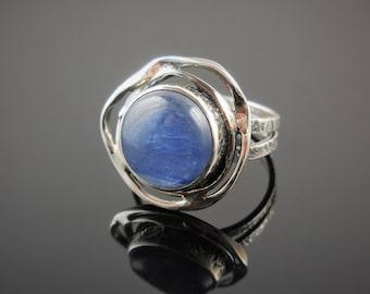 Kyanite sterling silver ring - size 7.75