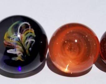 5 pack art glass hider marbles