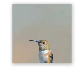 Hummingbird #5 - 6 x 6 Wings on Wood Decor