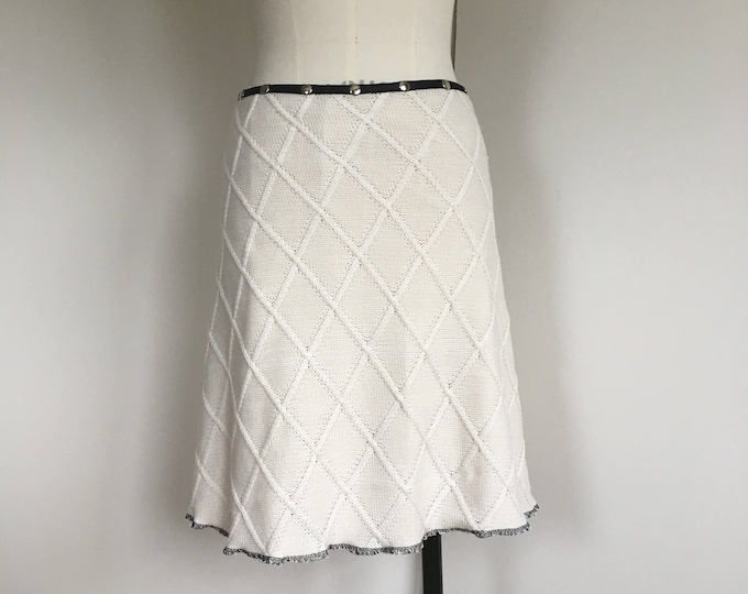 Skirt for women, winter skirt, midi skirt, snap skirt, sweater skirt, warm skirt, wrap skirt, knit skirt, white skirt