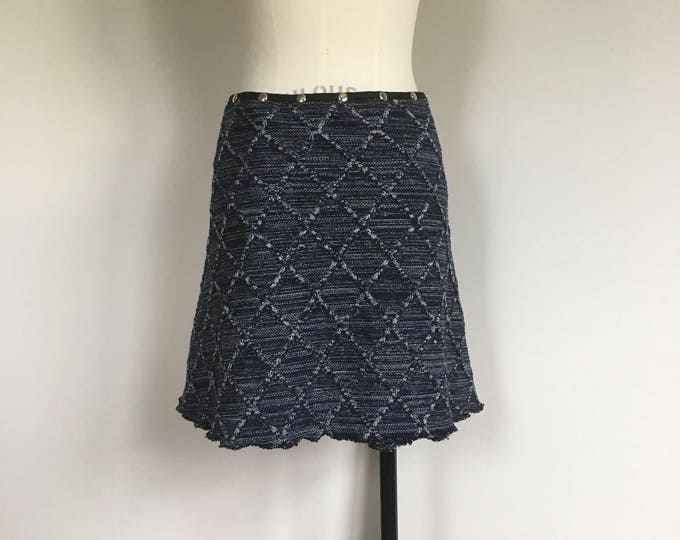 Skirt for women, winter skirt, snap skirt, sweater skirt, warm skirt, wrap skirt, knit skirt, navy blue skirt