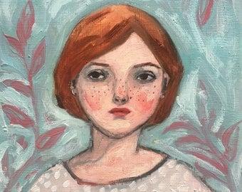 Oil painting portrait - Mia - Original art