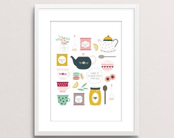There is Always Time for Tea print