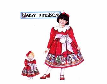 SALE Daisy Kingdom Girls Dress and Doll Dress Simplicity 5928 Sewing Pattern Size 3 - 4 - 5 - 6 Uncut