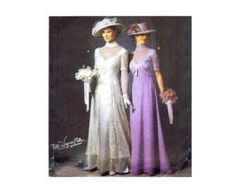 Edwardian Titanic Dress Wedding Gown Gibson Girl Simplicity 9716 Sewing Pattern Size 6 - 8 - 10 - 12 UNCUT