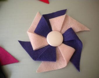 Half Price & Ready to Ship! Colorful Felt Pinwheel Headband in Pink and Purple for Women or Children