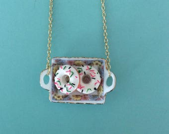Tray of Donuts Necklace