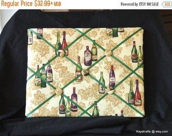 July 4th Sale Tuscany Wine Memory Board French Memo Board, Fabric Ribbon Memo Board, Christmas Gift, Organization Board, Display Board