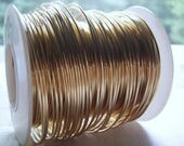 Half Hard Wire Brass Copper Bronze Aluminum 14 to 22 Gauge Sold by the Foot COILED