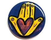 Heart in Hand Magnet, Pin...