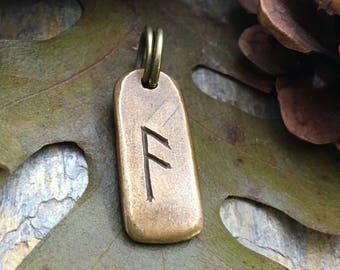 Ansuz Rune, Bronze Rune Pendant, Viking Jewelry, Viking Runes, Men's Rune Jewelry, Rune Jewelry, Nordic Jewelry, Elder Futhark, Nordic Ansuz