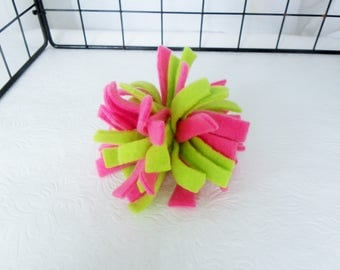 Fleece Pom Pom Toy, Rat Toy, Fleece Rat Toy, Pet Toy,Fleece Ball, Fleece PomPom Toy