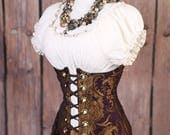 HOURGLASS SALE Waist 46-48 Purple and Gold Medallion Torian Corset-New Improved Pattern