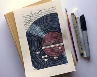 Blackout Poetry (it was soul inside me) Original Artwork & Poem