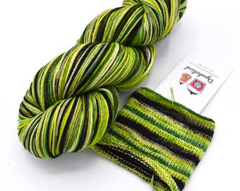 A Certain Disregard for the Rules Watercolor Stripes - Self-Striping Targhee Sock Yarn Made to Order