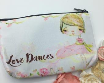 Love dances -little pouch