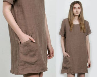SALE - Linen Pocket Dress