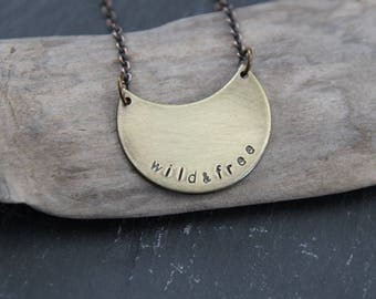 wild & free . a brass moon soul mantra necklace