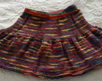Handknit Toddler Skirt