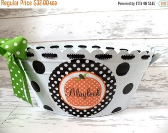 ON SALE Personalized Halloween Tub - More Designs Available
