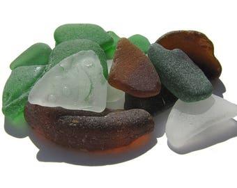 Bulk Sea Glass, Earth Colors Caribbean Sea Glass Lot