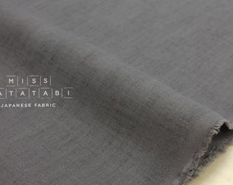 Japanese Fabric 100% linen - grey -  50cm