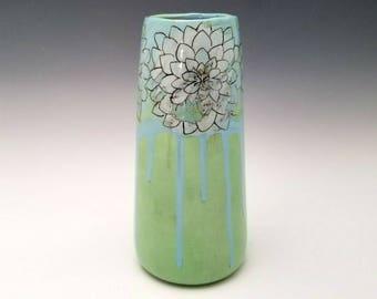 Ceramic vase, bud vase, pottery vessel, modern ceramic vase