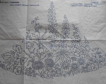 Vintage embroidery transfers