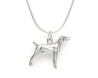 SALE Retriever Sterling Silver Dog Breed 3 Dimensional Pet Charm Pendant Customize no. 2068