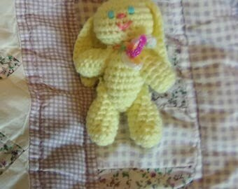 4in Yellow Bunny Toy