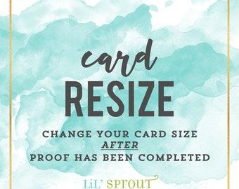 Card Resize Fee