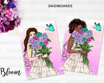Bloom Hand-drawn Dashboard   choice of size