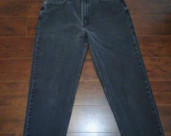 LEVIS 512 90s slim fit straight leg  14 Reg S  zip up denim faded black high waist jeans pants vintage  Waist W 31 high waisted