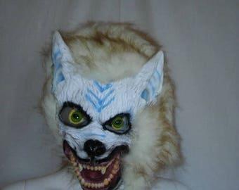 SALE 25% off SALE WOLF Mask  Vintage 90s Adult mask
