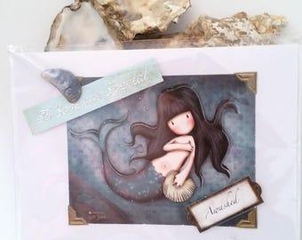 Mermaid Birthday Card - 7 x 5 inches