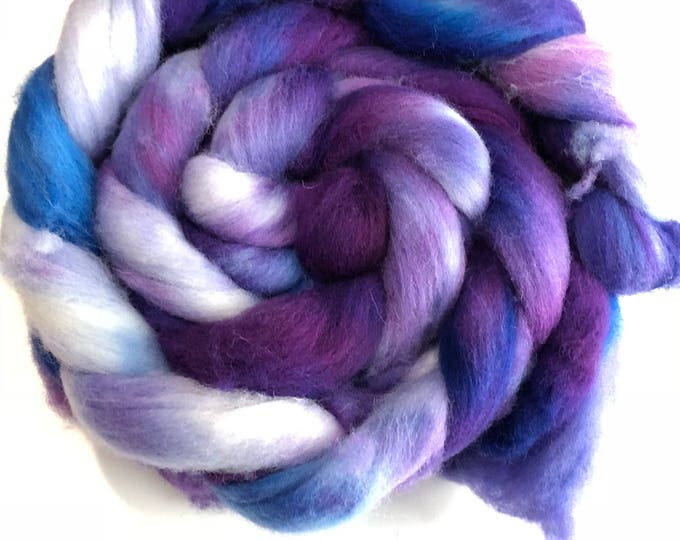 Kettle Dyed Cheviot Wool top. Roving.  Spin or felt. Soft and easy to work with. 1lb. Braid. Maude